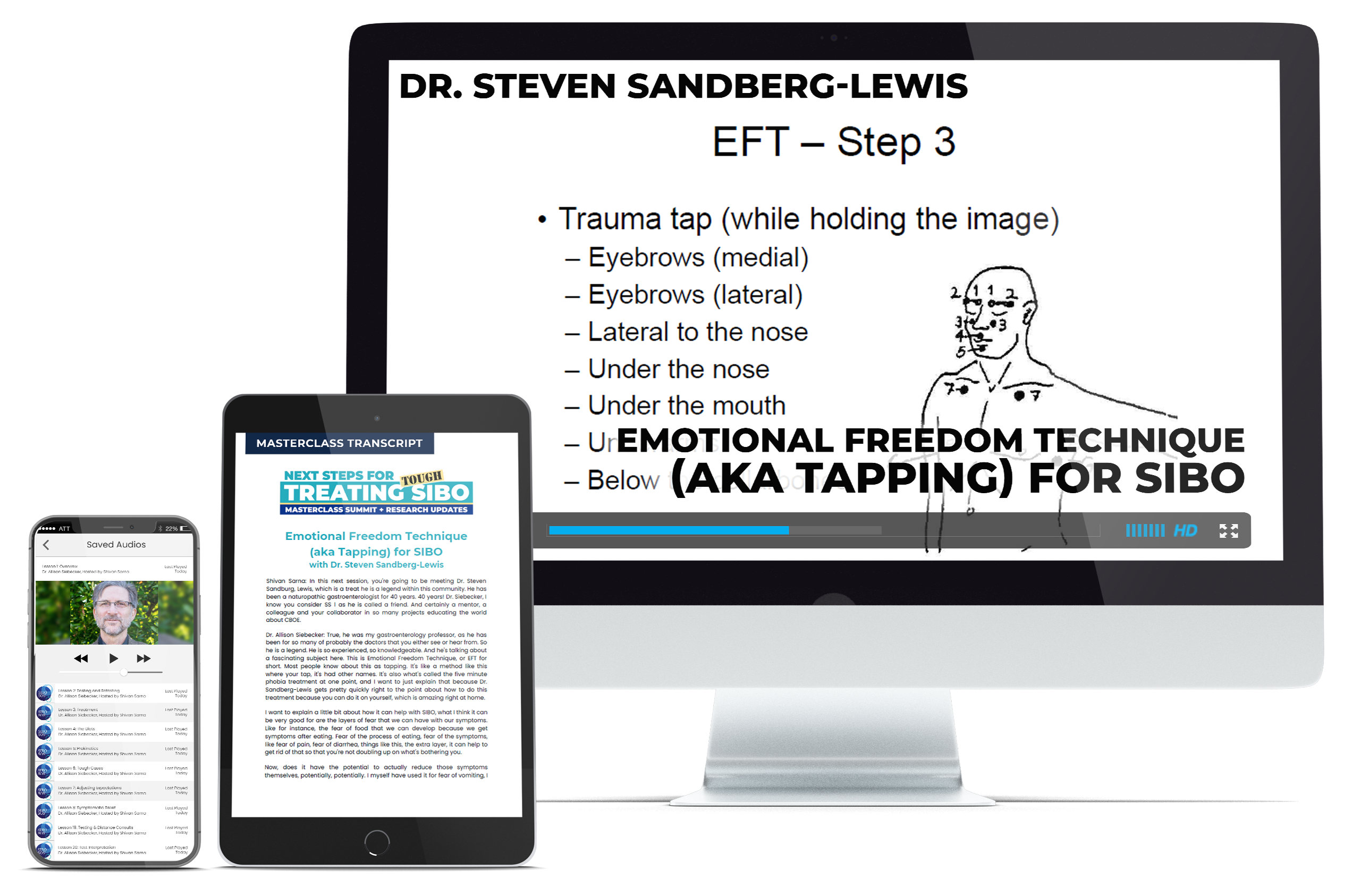 Emotional Freedom Technique (aka Tapping) for SIBO with Dr. Steven Sandberg-Lewis 